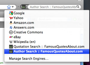 Famous Quote Search for FireFox/Chrome/IE 1.0 by Famous Quotes About