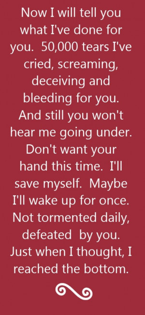 ... Under - song lyrics, song quotes, songs, music lyrics, music quotes