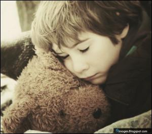 Adorable, alone, sad, kid, boy, teddy, bear