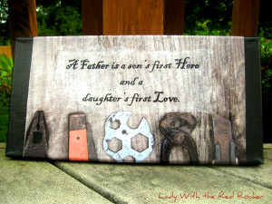 DIY picture and quote for Dad