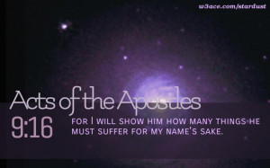 Bible Quote Acts of the Apostles 9:16 Inspirational Hubble Space ...