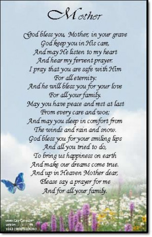 headstone quotes for mothers | Headstone Verses For Mother http://www ...