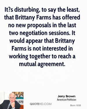 It?s disturbing, to say the least, that Brittany Farms has offered no ...