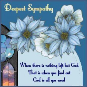 When There is Nothing Left But God – Sympathy Cards