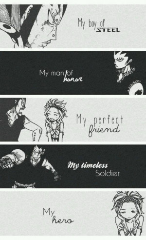 anime, couple, fairy tail, gale, gajeel x levy