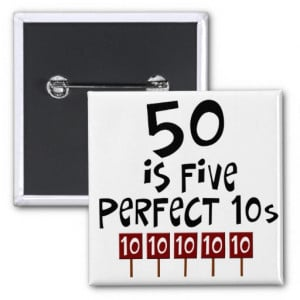 50th birthday gifts, 50 is 5 perfect 10s! pin