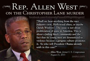 Allen West quote about Christopher Lane.