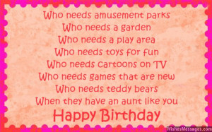 Aunt Quotes And Poems Birthday poems for aunt: aunts