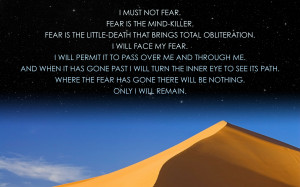 Quote on fear wallpaper