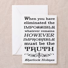 Sherlock Holmes Impossible Quote Greeting Card for