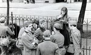 1942: Hubert Furtwangler, Hans Scholl, Willi Graf, unknown, Sophie ...