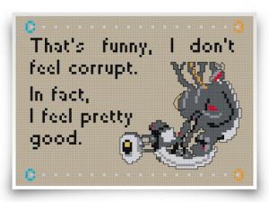 Portal Cross Stitch Pattern Glados Bit Pixel Art Geekery