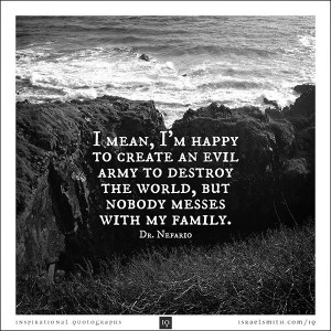mean, I'm happy to create an evil army to destroy the world, but ...