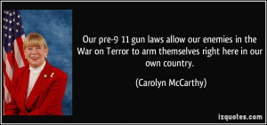 Our pre-9/11 gun laws allow our enemies in the War on Terror to arm ...