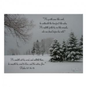 My latest...Winter Landscape-Scripture Quote Poster from Zazzle.com
