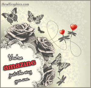 Youre Amazing Just The Way You Are Facebook Graphic