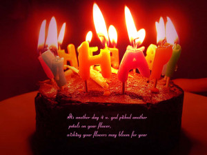 Happy Birthday wallpaper with nice birthday quotes