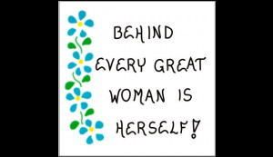 Women Magnet - Inspiring woman quote, female confidence, blue ...