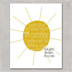 The Sunshine 8x10 Print Walt Whitman Quote by katygirldesigns, $15.00