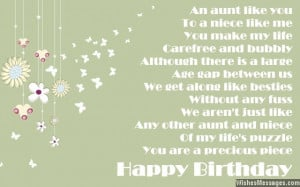 happy birthday auntie poem