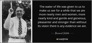 ... than without its vision there is any evidence we are. - Bernard DeVoto