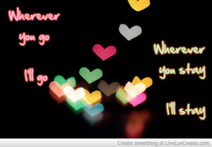 Glowing Hearts Romantic Quote