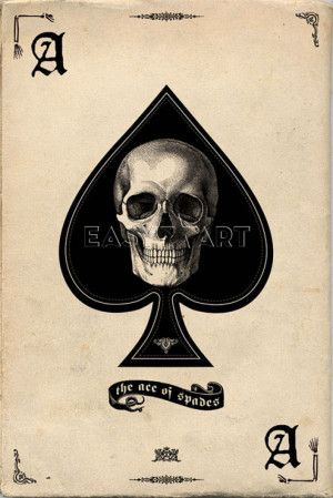 Ace of Spades Art Print by Maxi