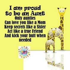 So true! My son has some amazing Aunts and great Aunts ♥ So excited ...