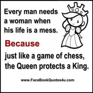 Chess King And Queen Quotes The queen protects a king.