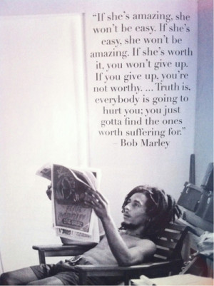 bob marley, i love you, i won',t give up, quotes