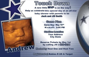 Dallas Cowboy Birthday Invitations