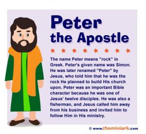 Simon Peter the apostle - Bible Character: Character Stories, Bible ...