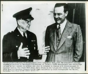 Gen Eisenhower amp Sen Henry Cabot Lodge Rocquencourt France news ...