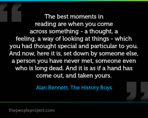 ... , The History Boys http://www.thepeopleproject.com/book-people/quotes
