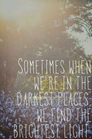 ... we find the brightest light.