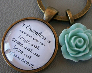 Daughter Quote Gift Keyring, Mother Daughter Gift, Daughter in law ...