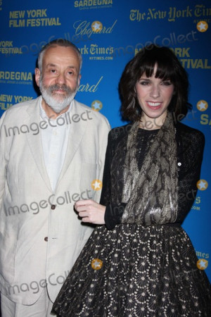 Mike Leigh Photo NYC 092708Mike Leigh and Sally Hawkins with her arm