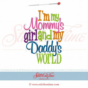 6025 Sayings : Mommy's Girl Daddy's World 5x7