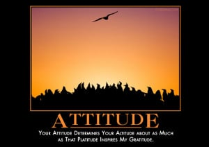 Your attitude determines your altitude about as much as that platitude ...