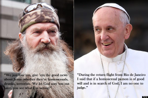 Does Phil Robertson sound like Pope Francis? Vice versa?