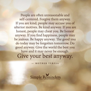 forgive them anyway by mother teresa forgive them anyway by mother ...
