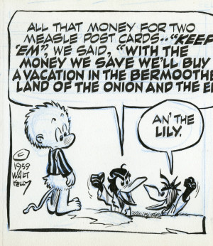 Walt Kelly, Original Artwork for Pogo, March 18, 1959