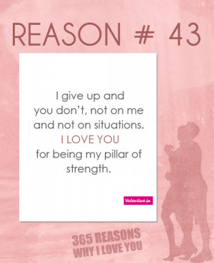 See more ☛ 365 Reasons Why I Love You