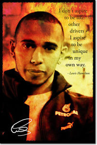 LEWIS-HAMILTON-SIGNED-ART-PHOTO-POSTER-AUTOGRAPH-GIFT-QUOTE