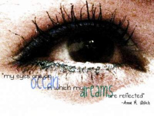 my eyes are...