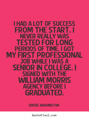 ... never really was tested for.. Denzel Washington good success quotes