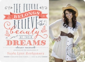 Cute High School Graduation Announcement Sayings