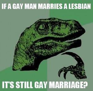 Philosoraptor: Gay Marriage | Funny Pictures, Quotes, Pics, Photos ...