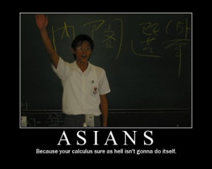 Chinky Or Not Chinky: Asians + Rice Farmers = Math Whizzes