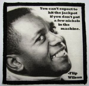 FLIP-WILSON-QUOTE-Printed-Patch-Sew-On-Vest-Bag-Backpack-Jacket